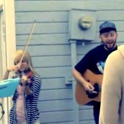Still of The National Parks) Sydney Carling, Paige Wagner, Brady Parks) from the band's music video.