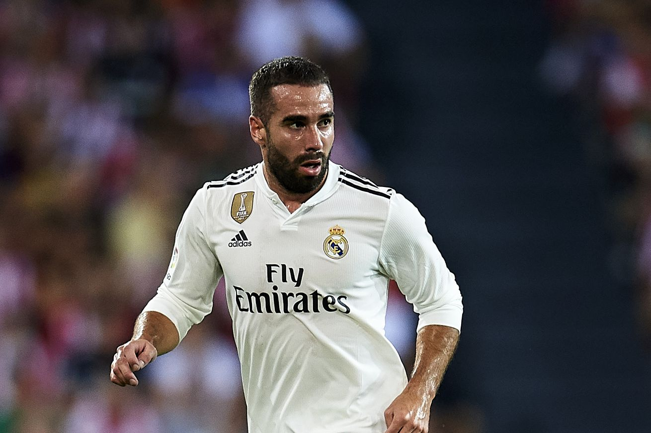 Carvajal back in training with Real Madrid squad