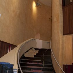 The staircase to the second level at Carmine's.