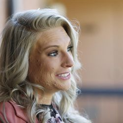Intensive Supervision client Crissy Elmer talks about her past substance abuse and her recovery in Salt Lake City on Thursday, Oct. 6, 2016.
