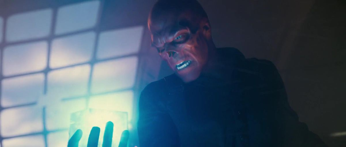 Red Skull holds the Tesseract/Space Stone in Captain America: The First Avenger (2011)