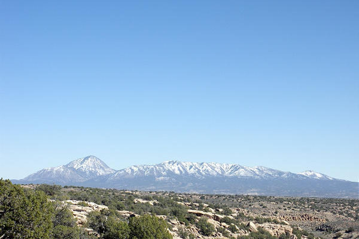 The Ute Sleeping Mountain, located in Colorado, but readily visible from portions of S.E. Utah, has ancient Native American legends associatd with it. Lynn Arave, Deseret News