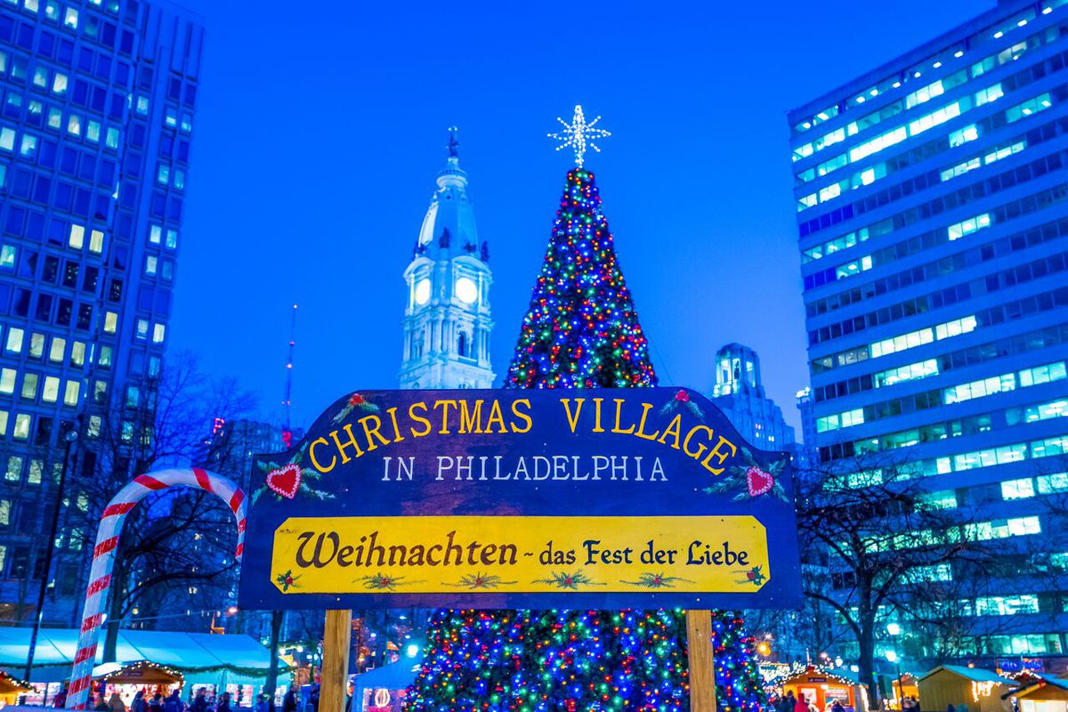 love park which for so many years was home to phillys christmas village is currently under construction so for 2016 the village set itself up across