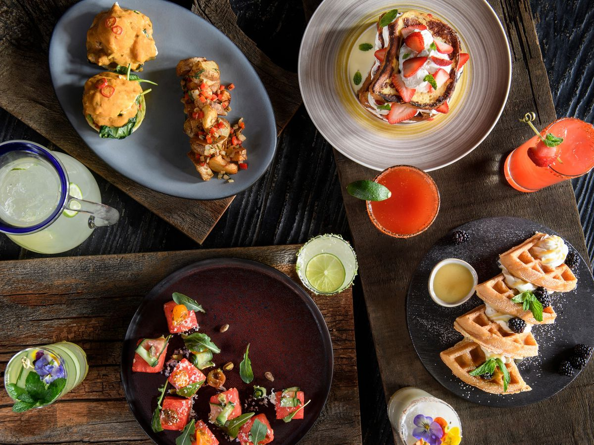 Breakfast dishes at El Dorado Cantina