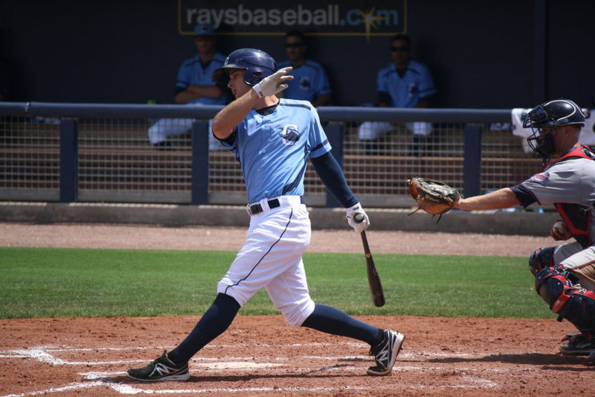 The bat was optional for Joey Rickard Tuesday