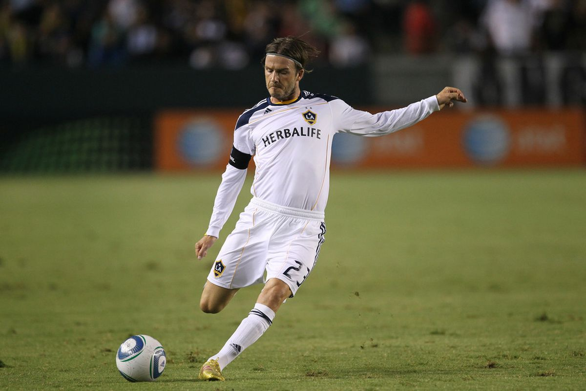 Not surprisingly, David Beckham and the LA Galaxy are ESPN's #1 team in this week's edition of their MLS Power Rankings.  (Photo by Stephen Dunn/Getty Images)