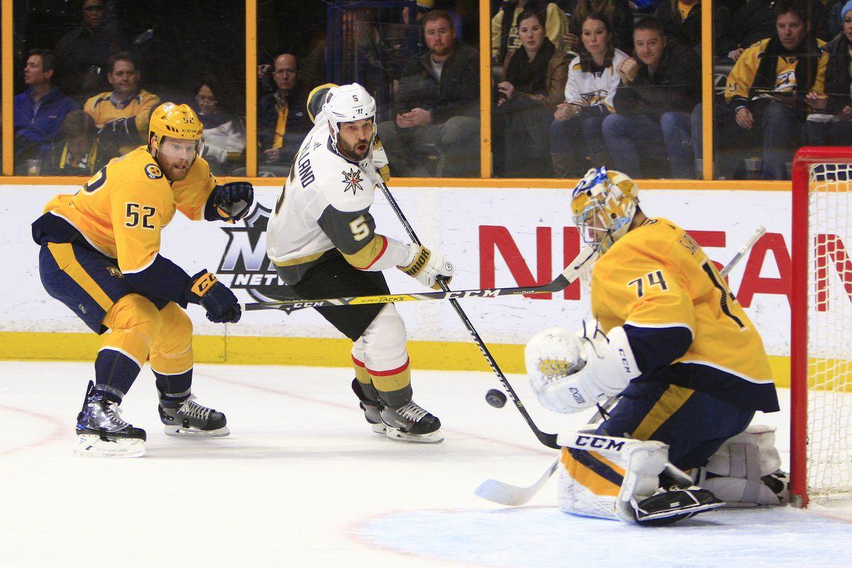 NHL: JAN 16 Golden Knights at Predators