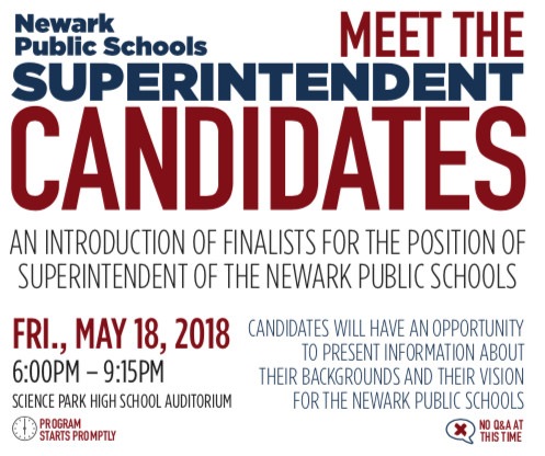 A flyer for the forum posted on the Newark Public Schools website.