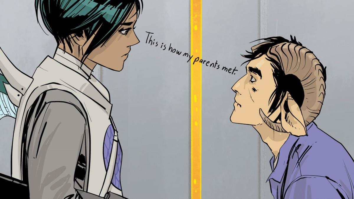 A panel from Saga, Image Comics.