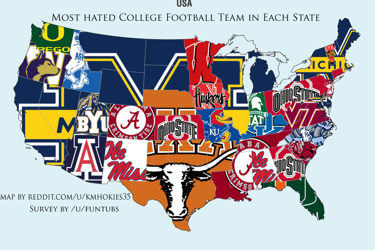 MAP The Most Popular NFL Team In Every State Business Insider - Map of us cities with football teams