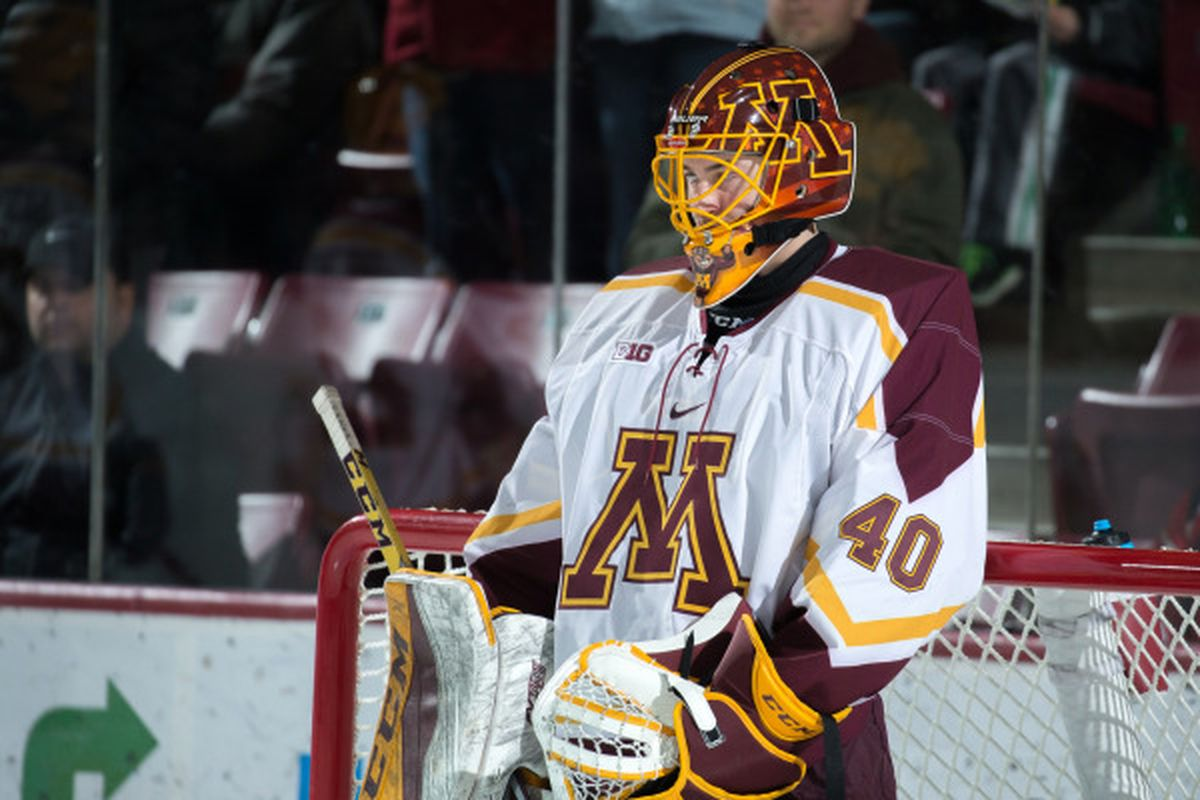outlet store 02c7b 56e13 Gophers Junior Goalie Mat Robson Signs With the NHL's ...