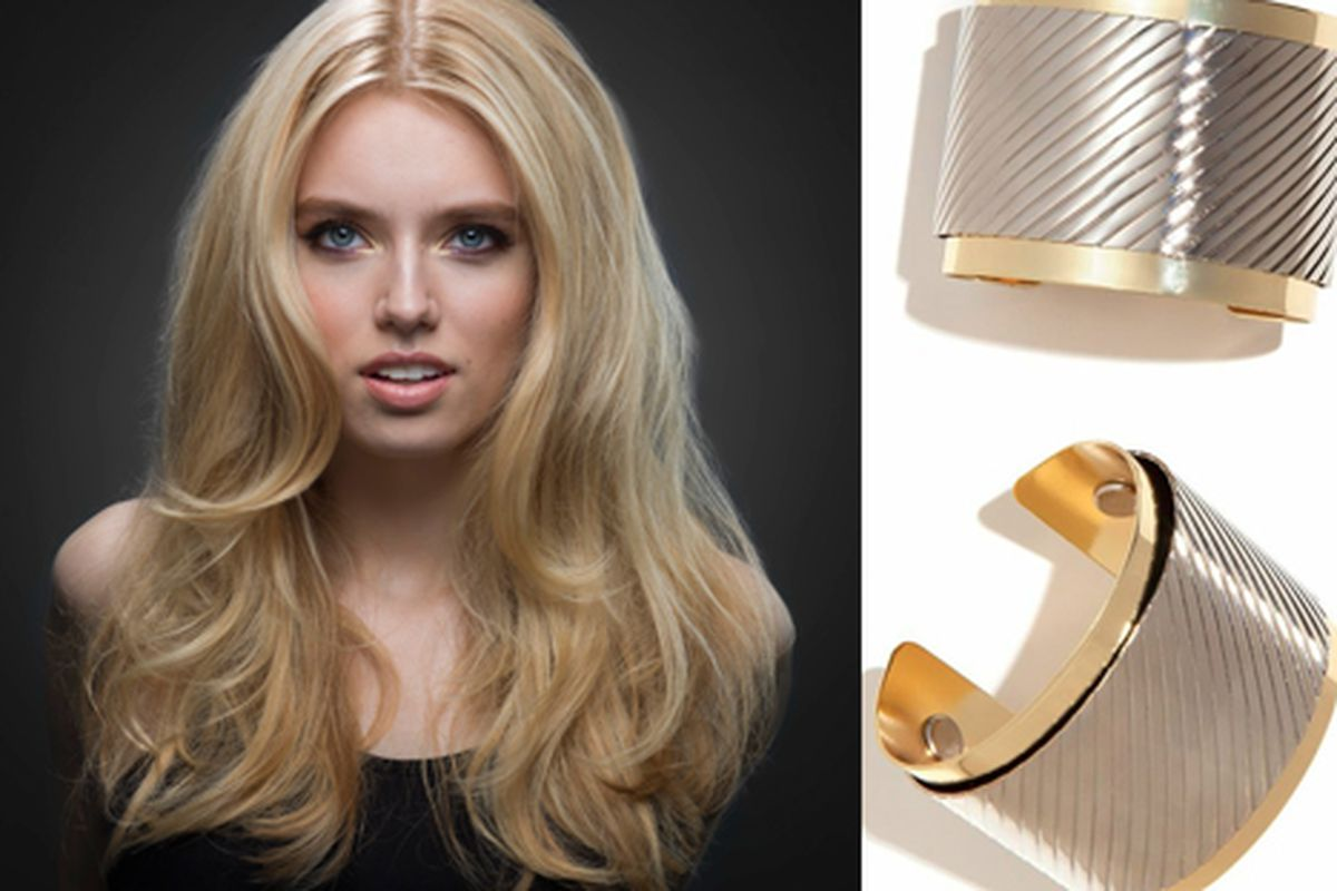 The Brigitte is matched with the Two Tone Wonder Cuff