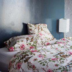 "<strong>Erica Tanov</strong> Lovebird Duvet Cover, <a href=""http://shop.ericatanov.com/collections/home-goods/products/lovebird-duvet-cover"">$387</a> for queen size"