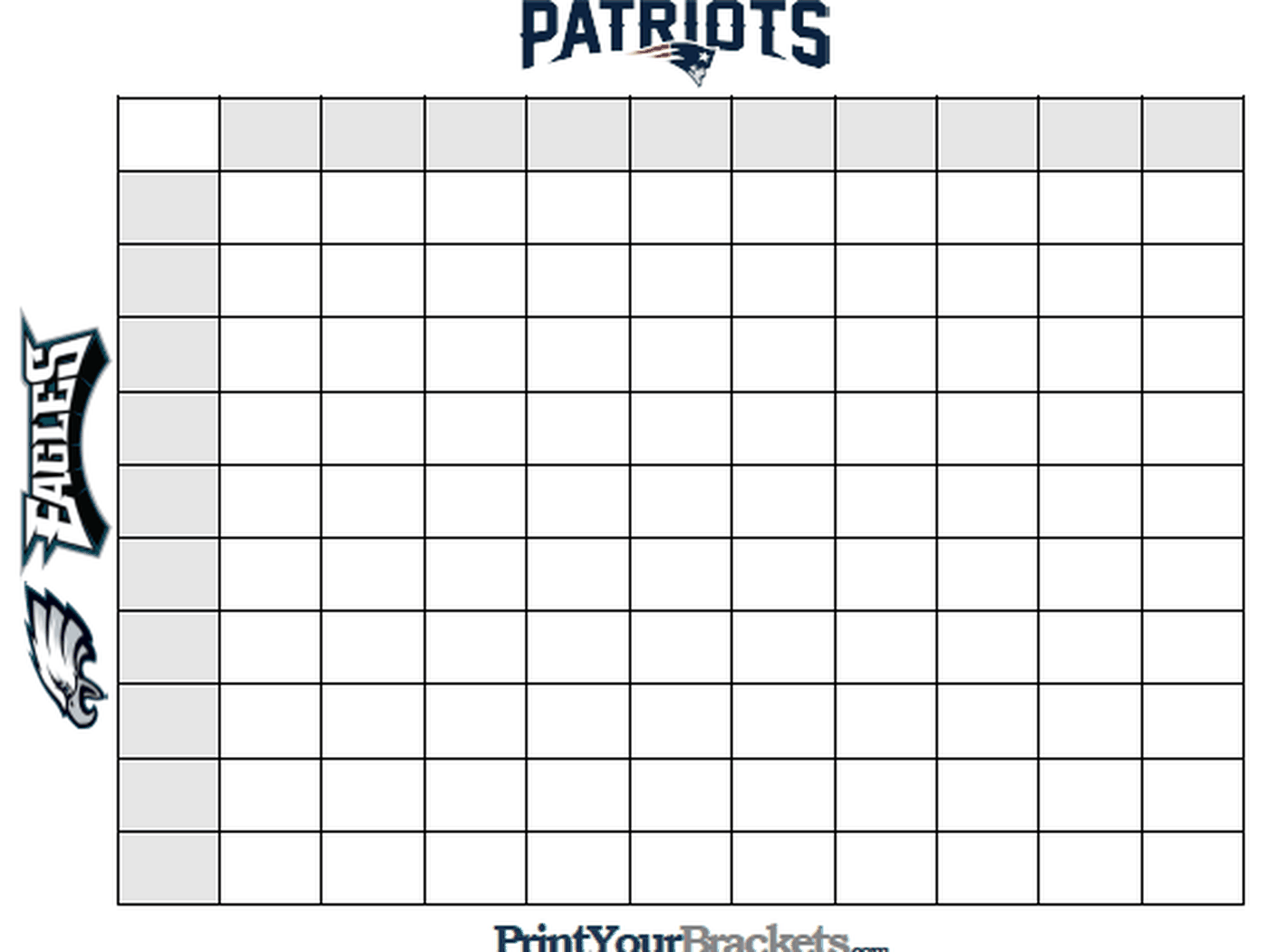 Super Bowl squares template: A playing guide for Patriots vs. Eagles - SBNation.com