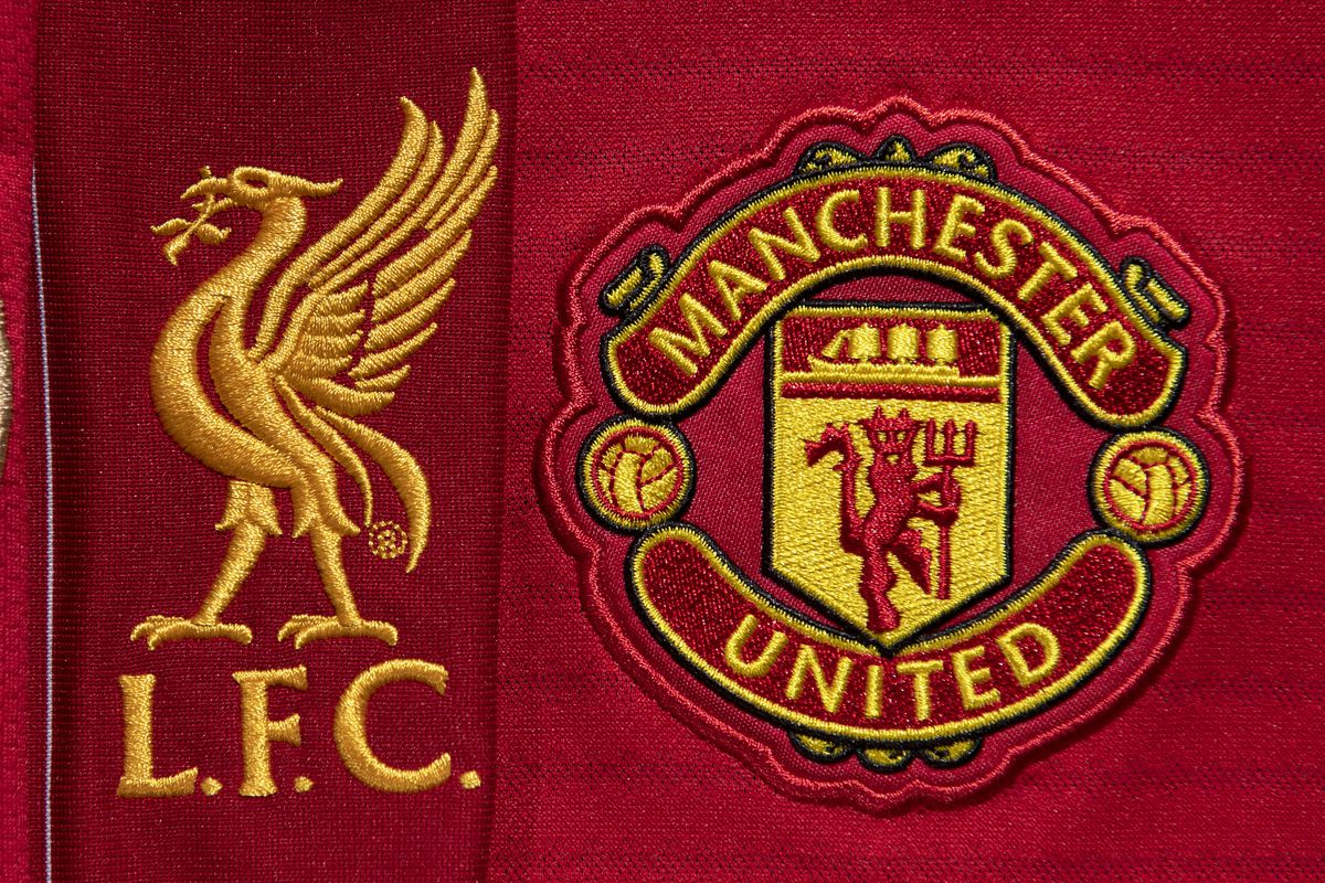 The Club Badges of Liverpool and Manchester United