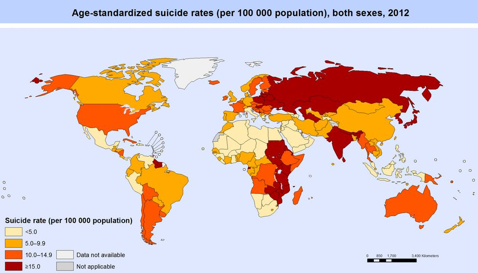 suicide by country