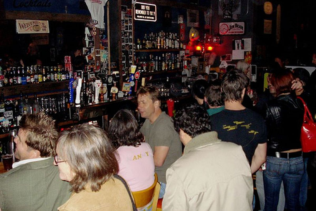 A packed bar at Bender's.