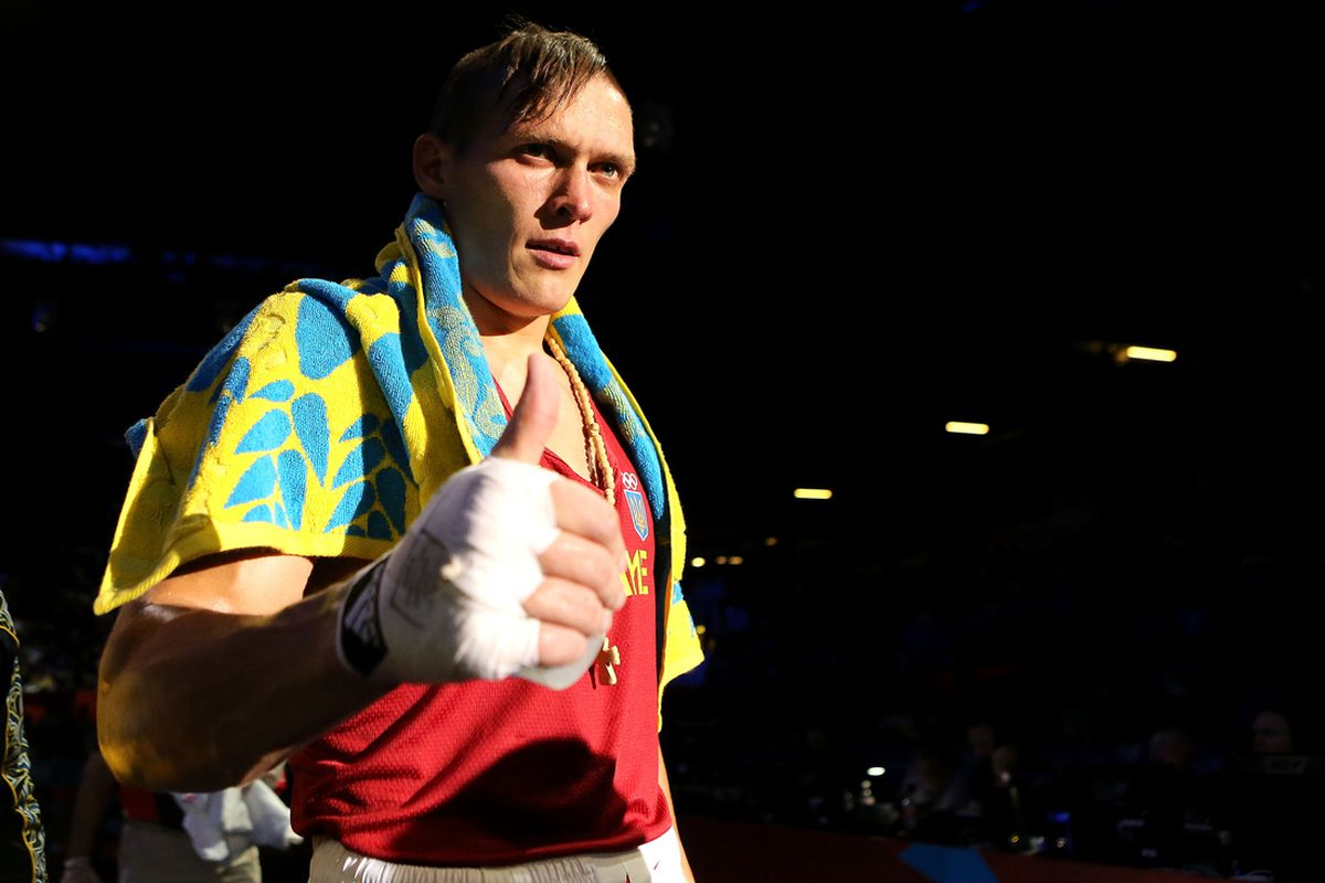 Oleksandr Usyk of Ukraine won the heavyweight gold medal in London. (Photo by Scott Heavey/Getty Images)