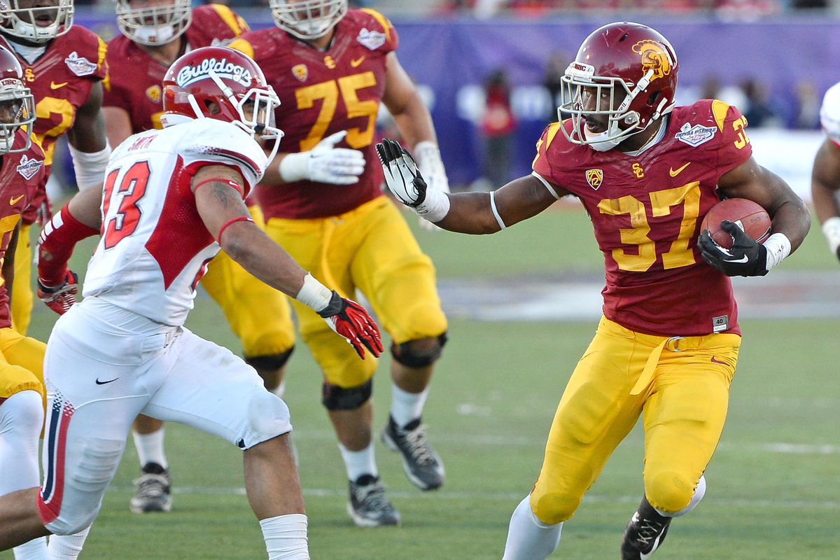 USC will look to pound the rock early and often.
