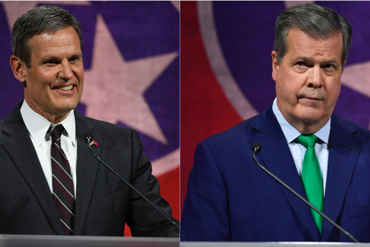 From left: Williamson County businessman Bill Lee and former Nashville Mayor Karl Dean will face off in the general election Nov. 6 to become Tennessee's 50th governor.