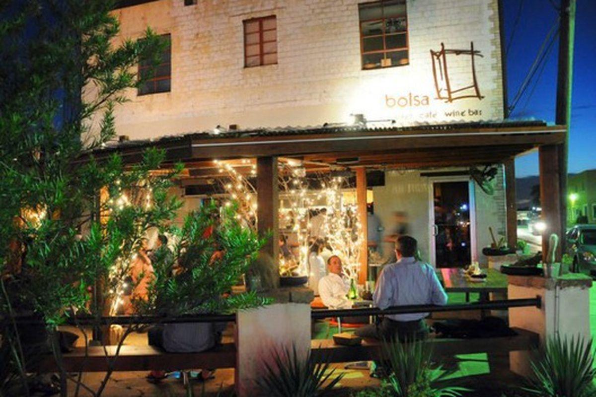 The Bolsa patio.