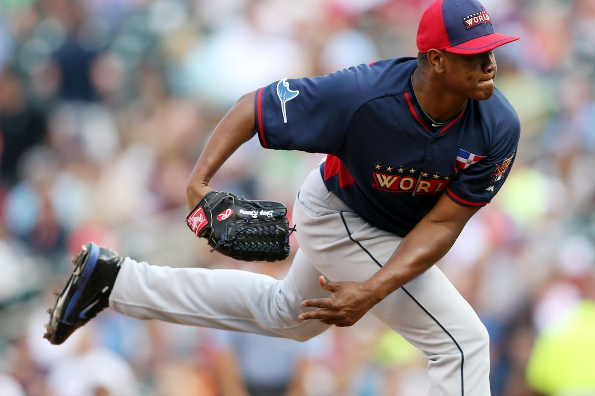In a battle of Futures Game World teammates, Enny Romero came up on the short end