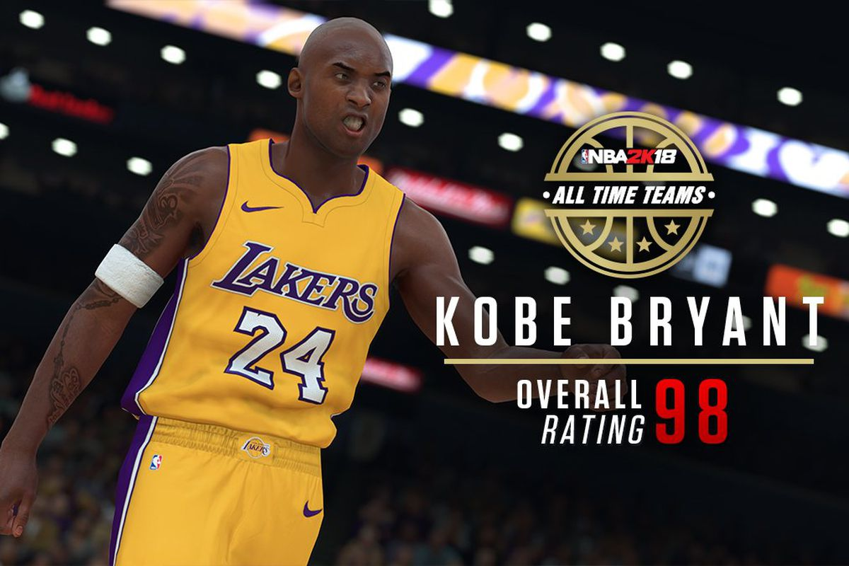 1489c9175a4 Kobe Bryant s NBA 2K18 rating on Lakers all-time team revealed ...