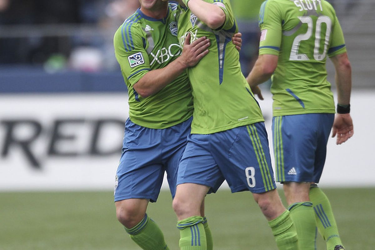 Erik Friberg's option means he will celebrate more goals with the Seattle Sounders in 2012.