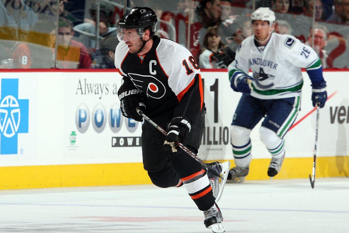 Vancouver Canucks v Philadelphia Flyers