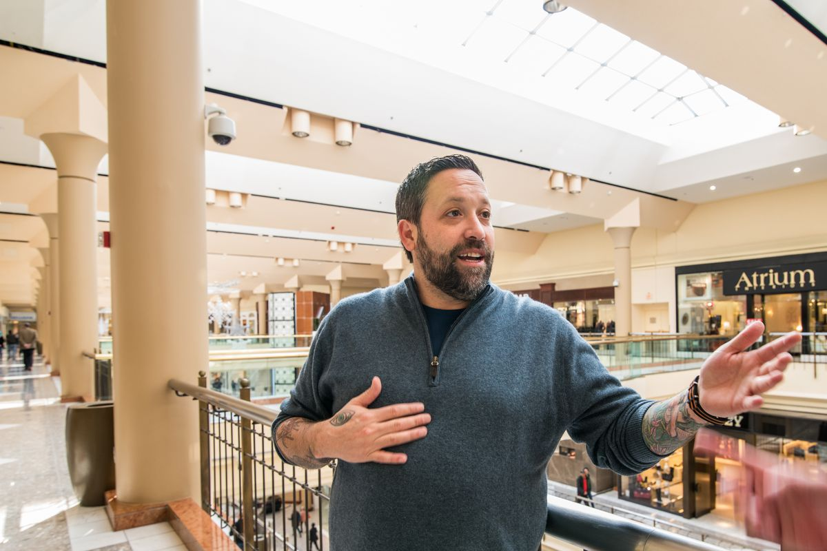 Chef Mike Isabella inside the space soon to become his food hall.