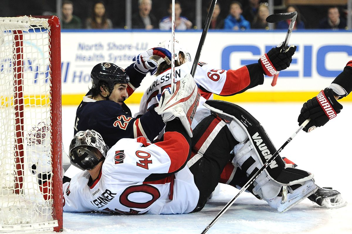 """There was a lot of this """"falling"""" on Lehner tonight"""