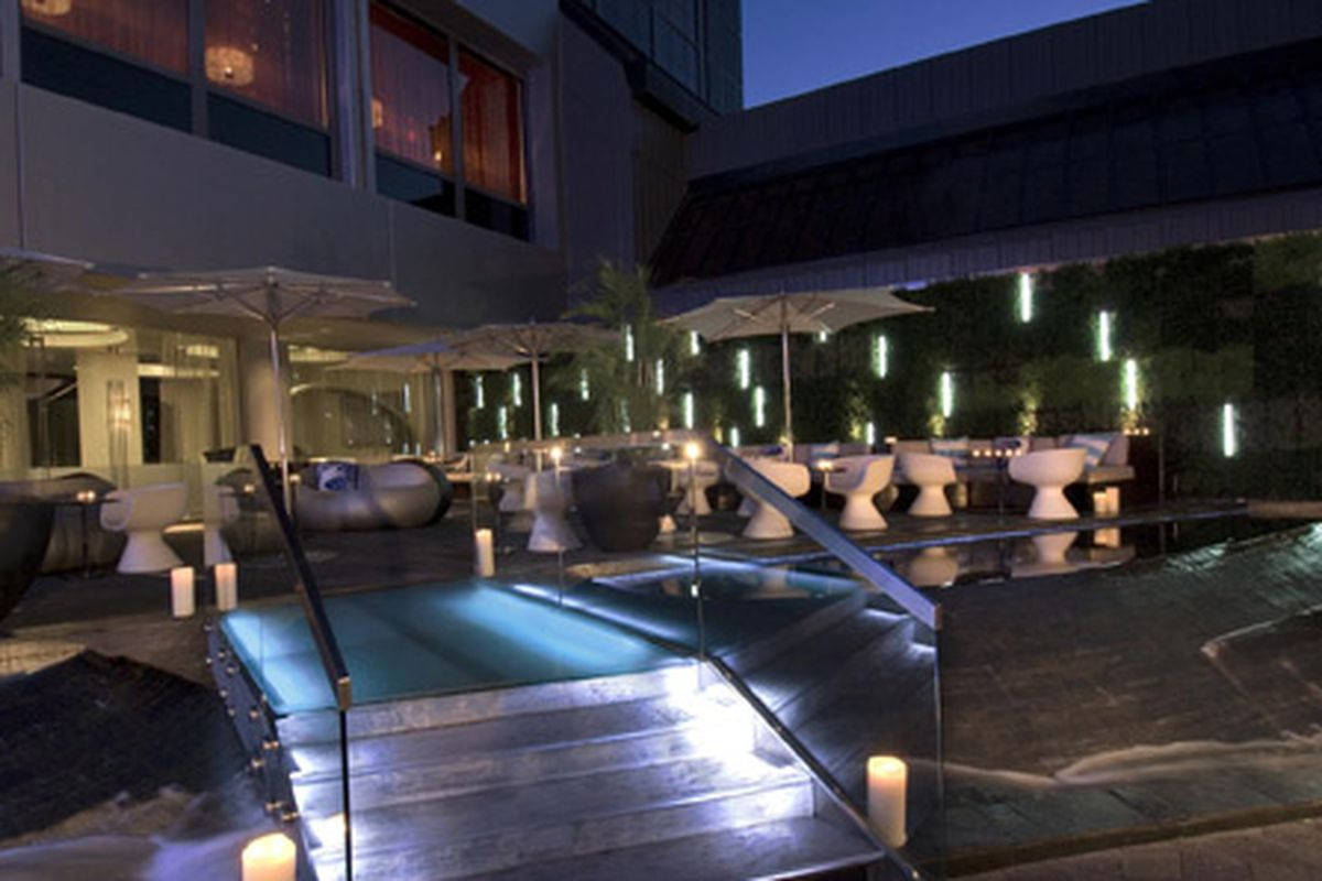 The Living Room patio at the W Atlanta-Midtown