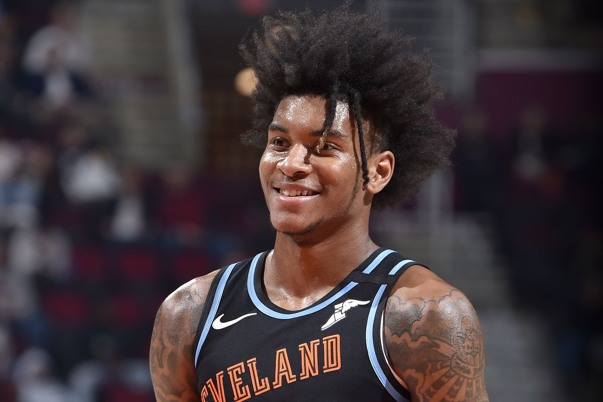 Kevin Porter Jr. of the Cleveland Cavaliers smiles during the game on March 2, 2020 at Rocket Mortgage FieldHouse in Cleveland, Ohio.