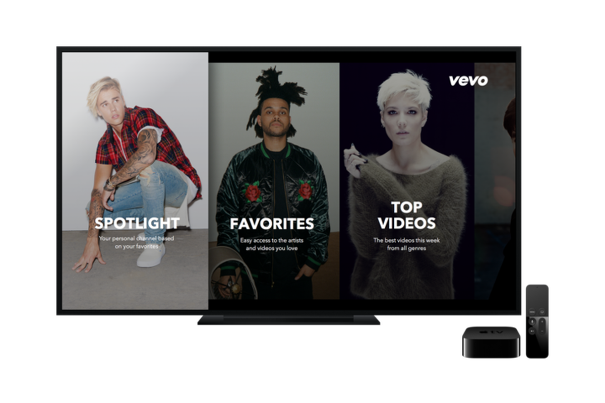Vevo's new Apple TV and Android apps add personalized music