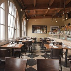 The newly expanded Matt's in the Market has lost none of its charm. One of the dining room's genius traits is showcasing the restaurant's Pike Place Market setting, with the large half-moon windows prominently showcasing the market action below.