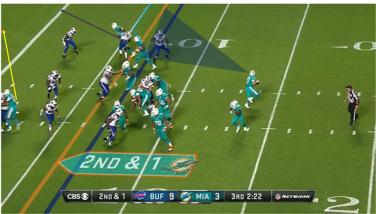 Tannehill to Gibson TD against Bills 3 graphics
