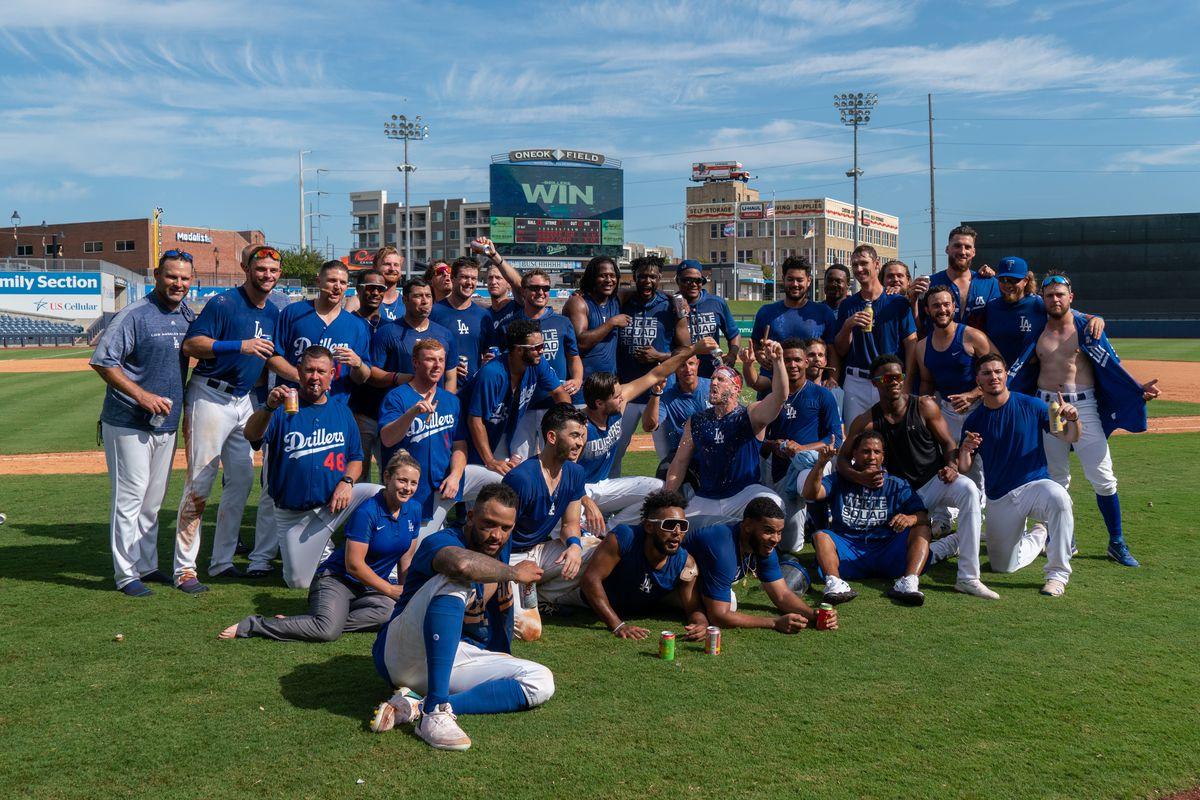 Tulsa Drillers celebrate