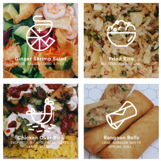 Ando Labs menu items