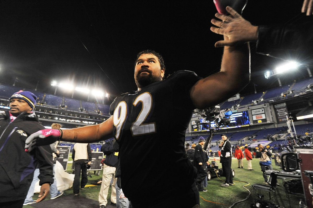 Haloti Ngata after a game against the New York Jets in 2011.