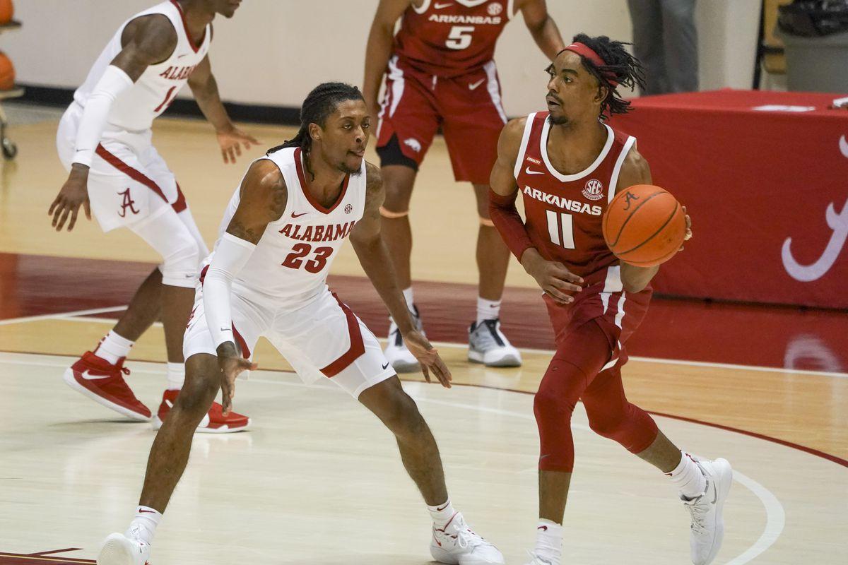 NCAA Basketball: Arkansas at Alabama