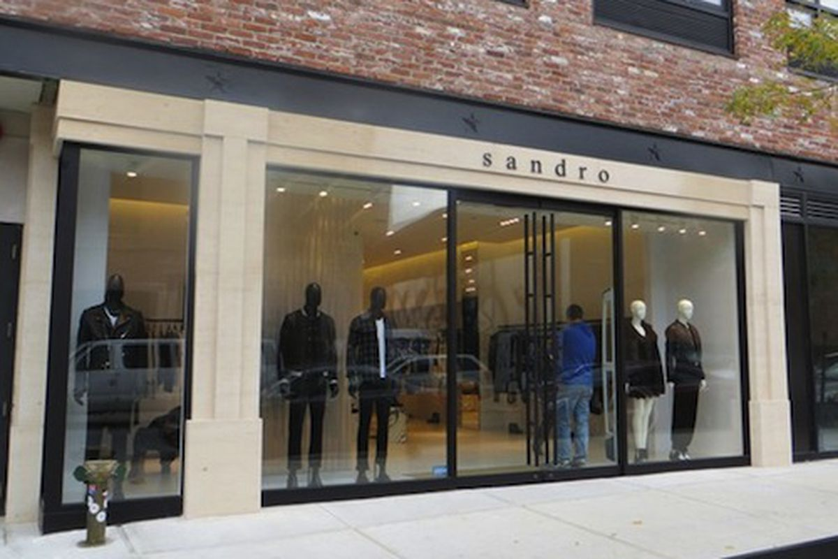 """Image via <a href=""""http://www.wwd.com/retail-news/specialty-stores/sandro-opens-in-williamsburg-7243481?navSection=issues"""">WWD</a>"""