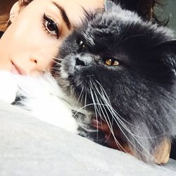 """<b>Rumi Neely</b> of <a href=""""http://fashiontoast.com/""""target=""""_blank"""">Fashiontoast</a> on her six-year-old Persian, Kumo: """"He sleeps with his head on my pillow! He also has his own <a href=""""http://instagram.com/kumoneely""""target=""""_blank"""">Instagram</a>."""""""