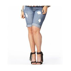 """Easy Rider Bermuda Shorts in Denim Washed, $22.80 at <a href=""""http://www.forever21.com/Product/Product.aspx?BR=plus&Category=faith_bottoms_shorts&ProductID=2038046512&VariantID=031"""">Forever 21</a>"""