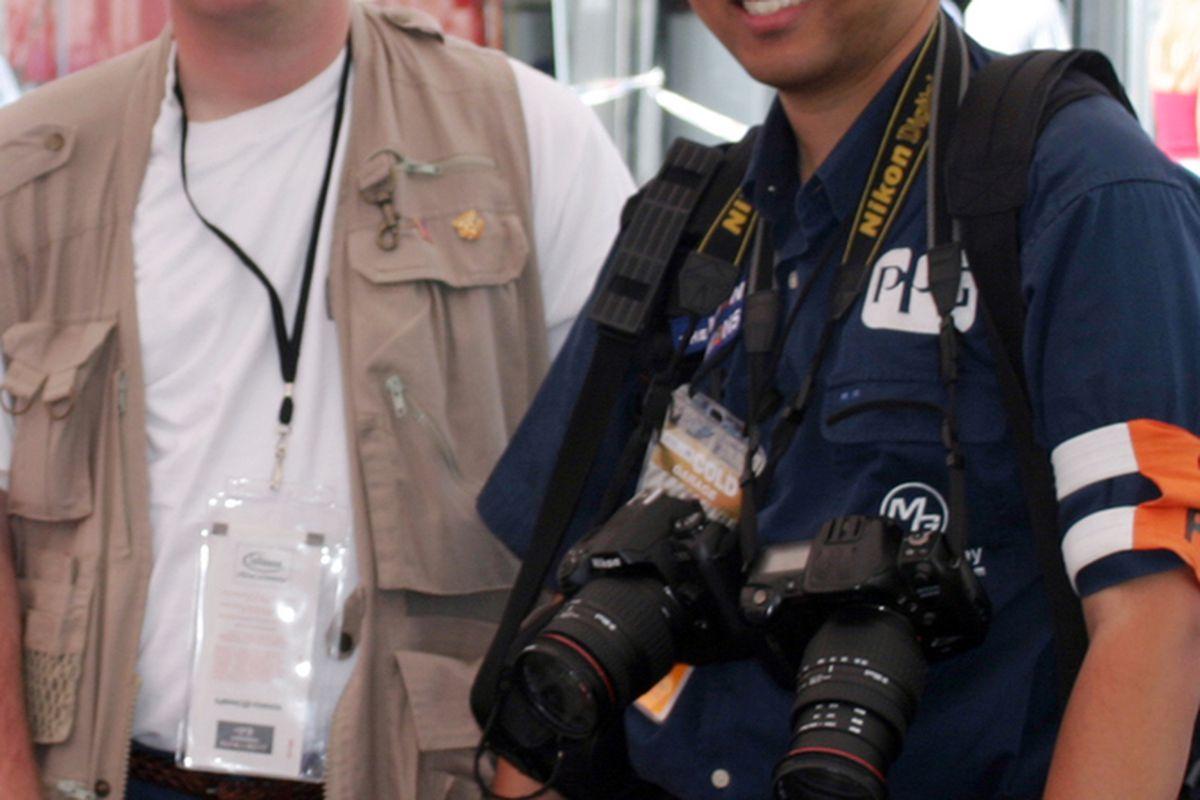 Tony Johns (L) and Earl Ma (R) at Infineon Raceway in 2003. (Photo: Tony Johns/Thunderbird Creative Media)