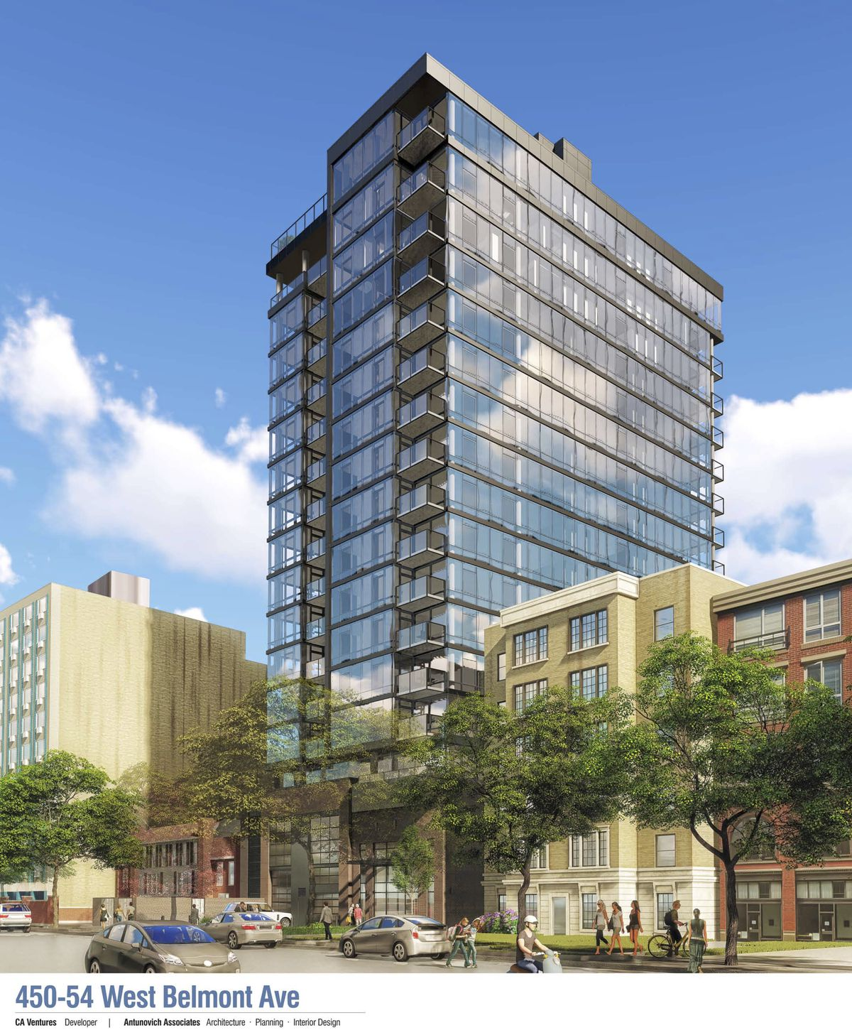 Lakeview Apartments: Lakeview Construction: 18-story Belmont Avenue Tower Ready