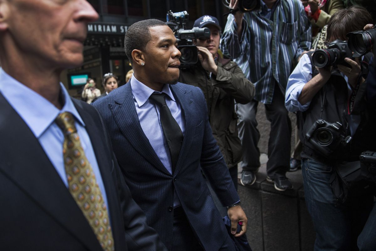 Ray Rice arriving at his arbitration appeal hearing in NewYork