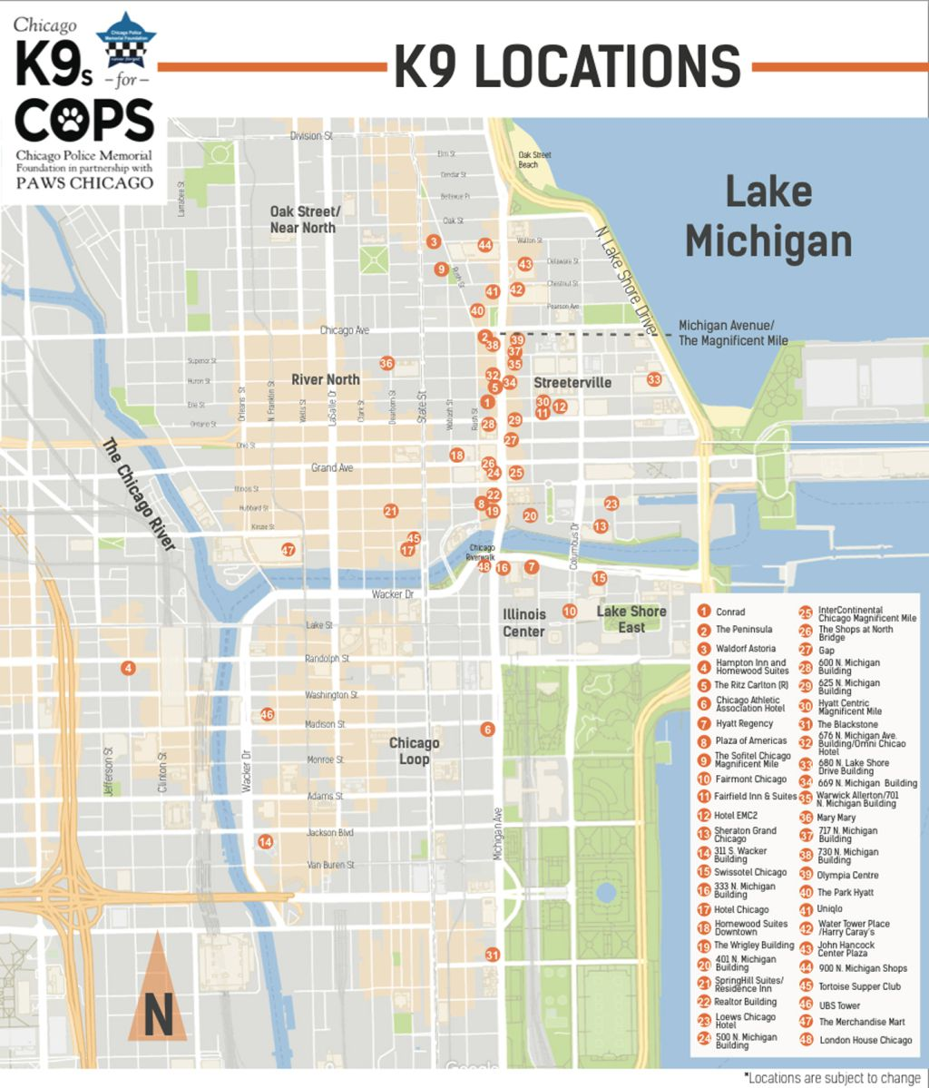 Magnificant Mile's new unofficial mascot: the canine cop ... on mile square park map, wrigley field map, graceland cemetery map, michigan avenue map, miracle mile wyoming map, state street map, south side map, shedd aquarium map, michigan mile marker map, grant park map, moody mile map, chicago mag mile map, miracle mile shops map, madison street map, millennium park map, merchandise mart map, main street map, royal mile map, navy pier map, miracle mile fishing map,
