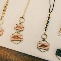 Leather necklaces made by Etsy seller Sol de Sur.