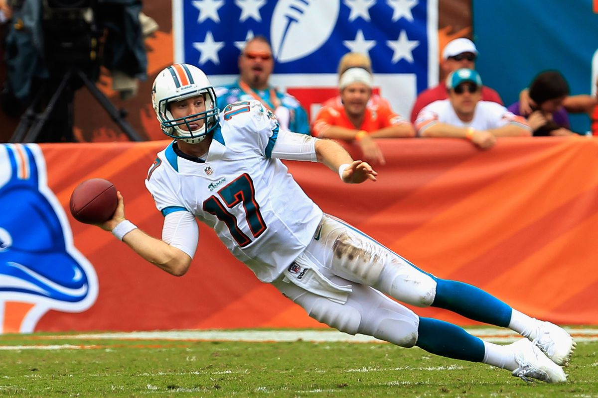 Hopefully Miami Dolphins quarterback Ryan Tannehill is not conducting throwing sessions like this.
