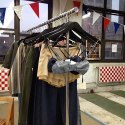 A rack of clothes from Delphine, which is usually sold only in Japan.